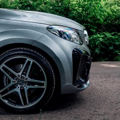 Юбка переднего бампера - обвес PRIME 63 на Mercedes GLE W166