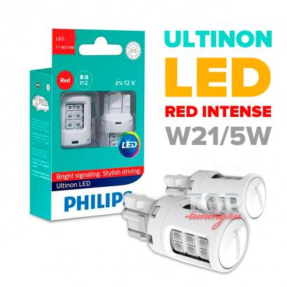 Красные лампы Philips Ultinon Led в задние фонари 2 в 1 - цоколь WX3x16d