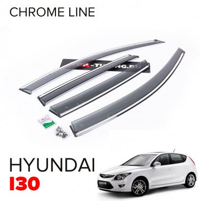 Дефлекторы окон Chrome Line на Hyundai i30