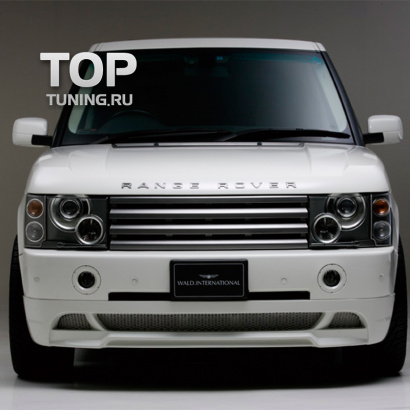 Накладка на передний бампер - обвес на Land Rover Range Rover Vogue 3