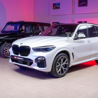 Оклейка кузова BMW X5 матовой бронирующей пленкой