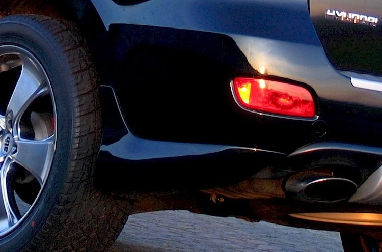 Задние брызговики - Обвес Bulldog на Hyundai Santa Fe 2 (CN)
