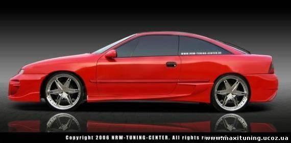 Тюнинг пороги - Обвес NTC на Opel Calibra A