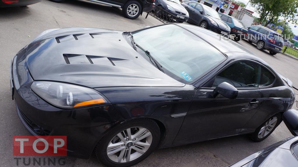 Капот с жабрами Топ Тюнинг на Hyundai Coupe (TIBURON) рестайлинг.