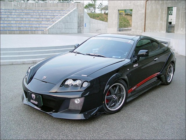 Обвес Warrior Mussa Wide Body на Hyundai Tiburon Coupe GK