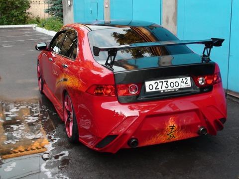 Задний бампер - Обвес Авто-Р для Хонда Аккорд 7.