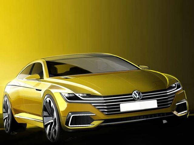 Volkswagen выпустил тизер Sport Coupe Concept GTE