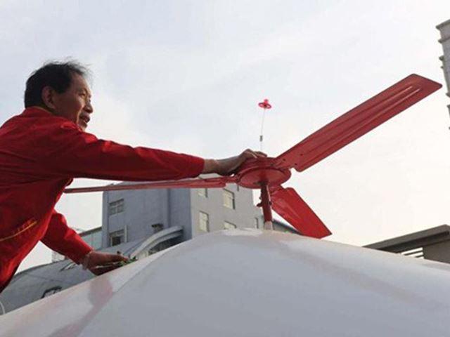 Возможно это первая в Китае летающая машина