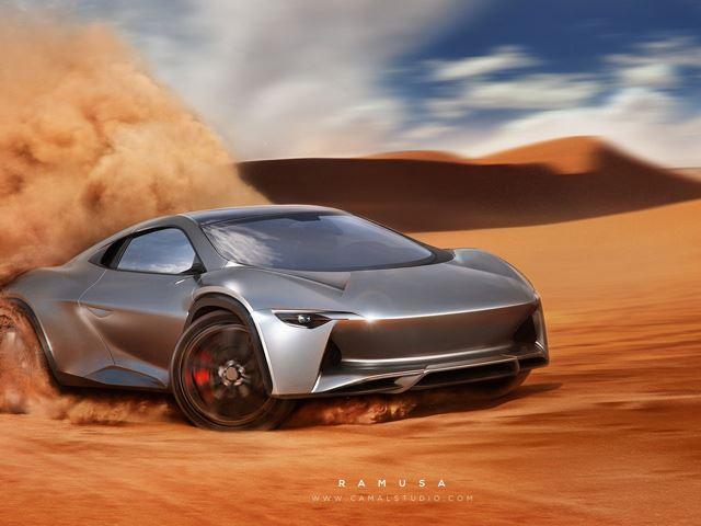 Концепт внедорожника с двигателем от Bugatti
