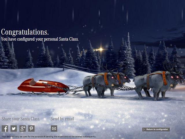 Mercedes создает новогоднее настроение, запуская конфигуратор саней Санты