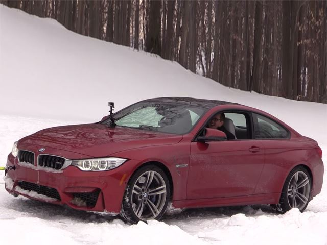 Сумасшедшая снежная езда на BMW М4