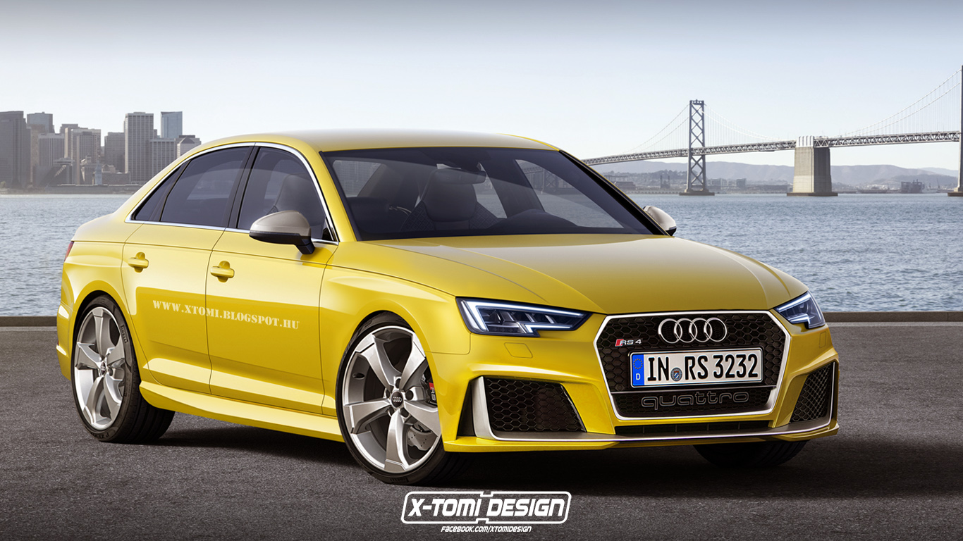 Седан Audi RS4 – звучит очень заманчиво