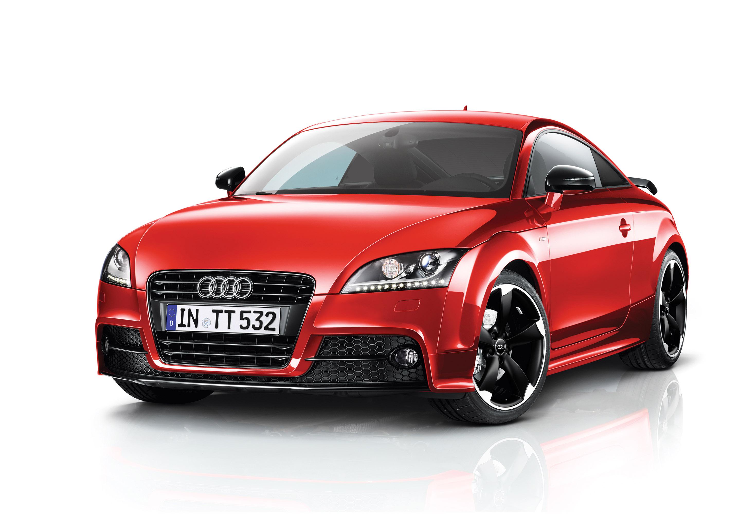 красный черный автомобиль Audi TT red black car  № 2626224  скачать
