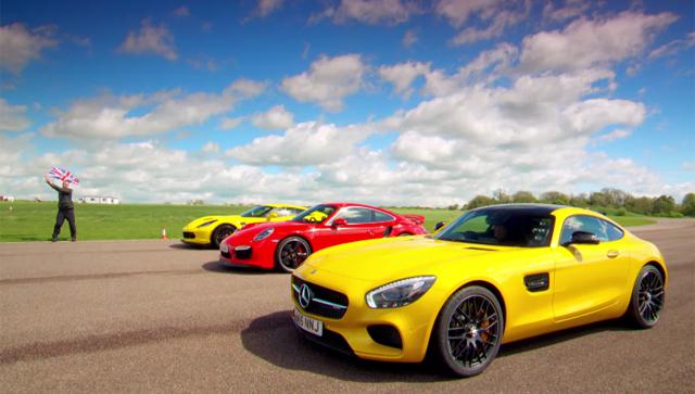 Хаммонд, Кларксон и Мэй тестируют Corvette, 911 и AMG GT
