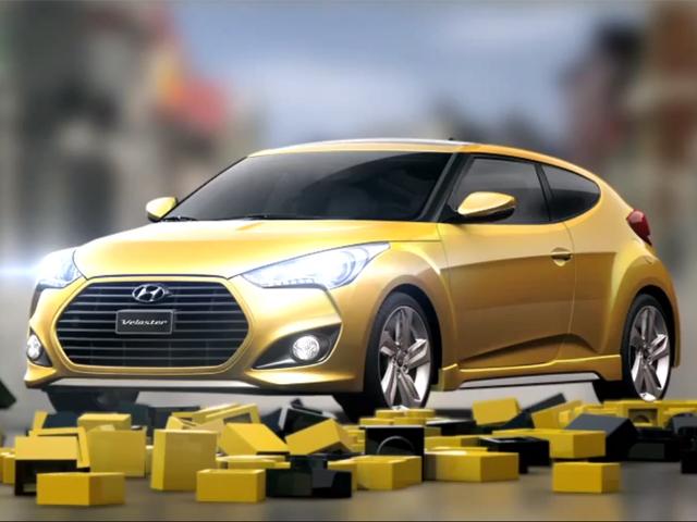 Hyundai Veloster дрифтит в Lego-городе