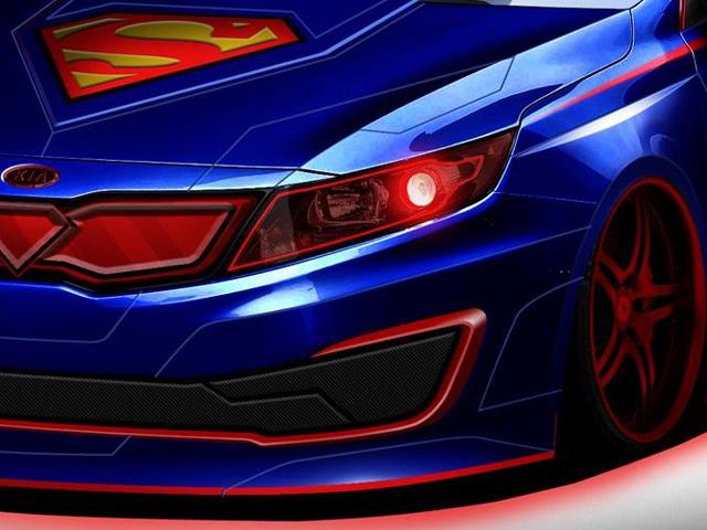 Kia Optima обрела облик Супермена из Лиги Справедливости.