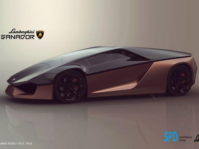 Студенческий концепт Lamborghini Ganador
