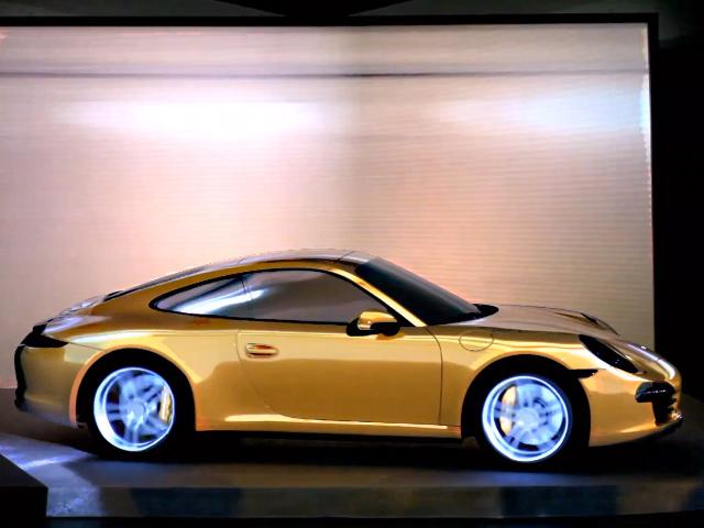 Видео-инсталляция  нового Porsche 911