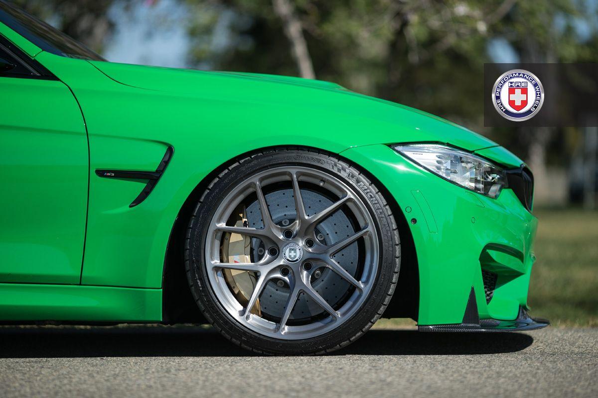Зеленый зверь BMW M3 на дисках HRE Wheels