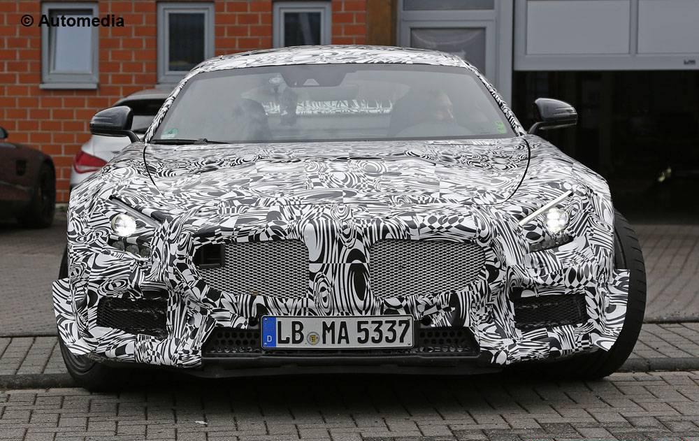 Шпионские снимки Mercedes-AMG GT3 с Нюрбургринга