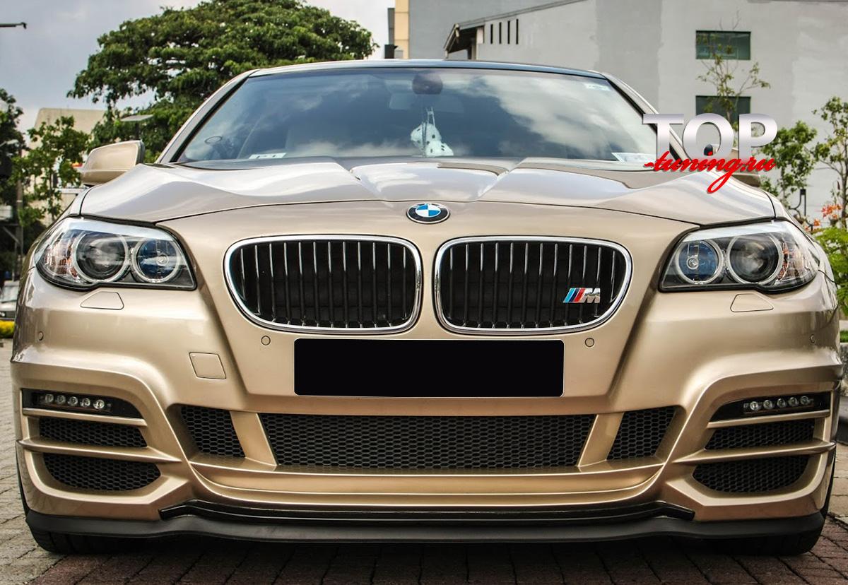 4826 Передний бампер WALD Black Bison на BMW 5 F10