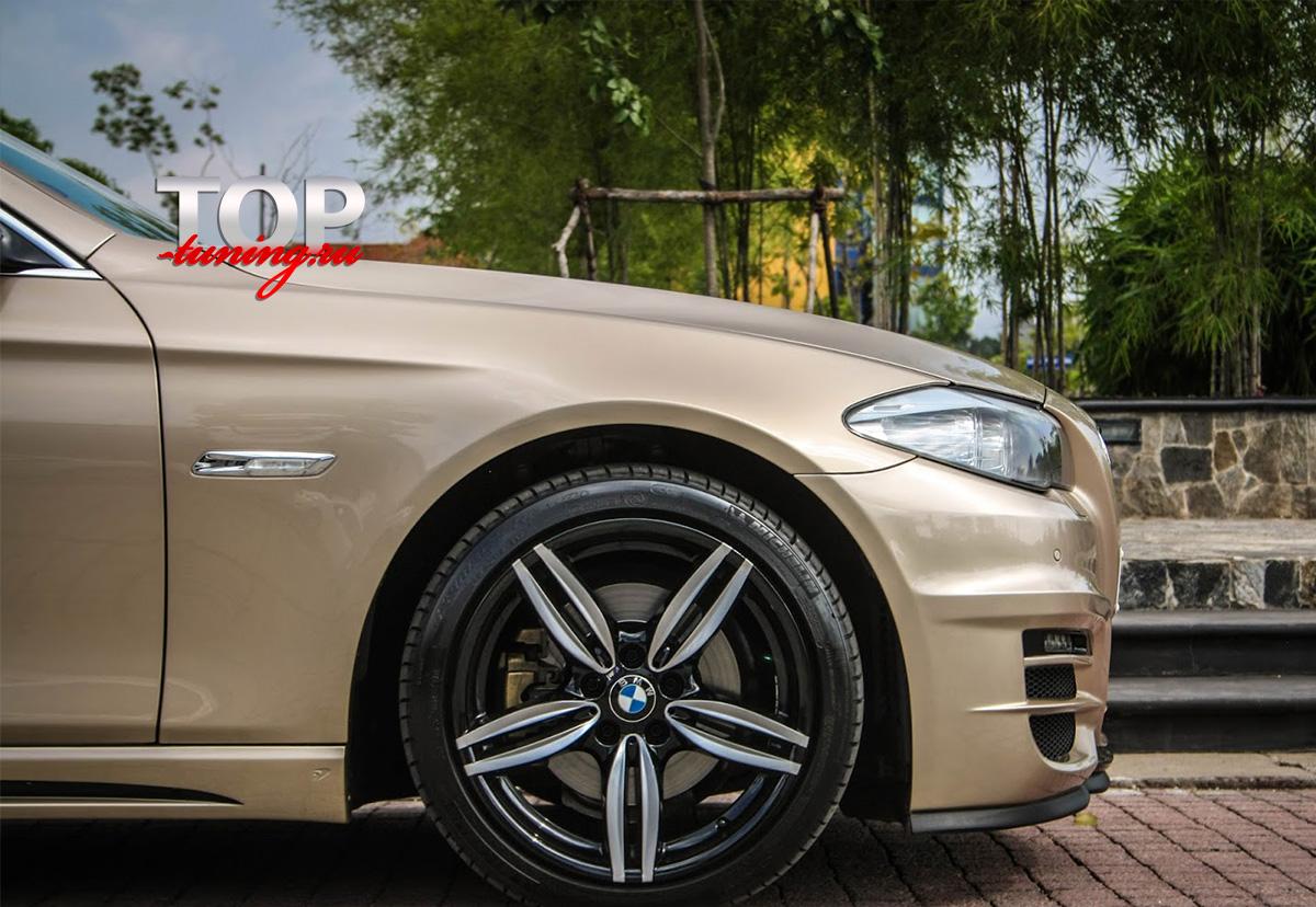 4828 Накладки на пороги WALD Black Bison на BMW 5 F10