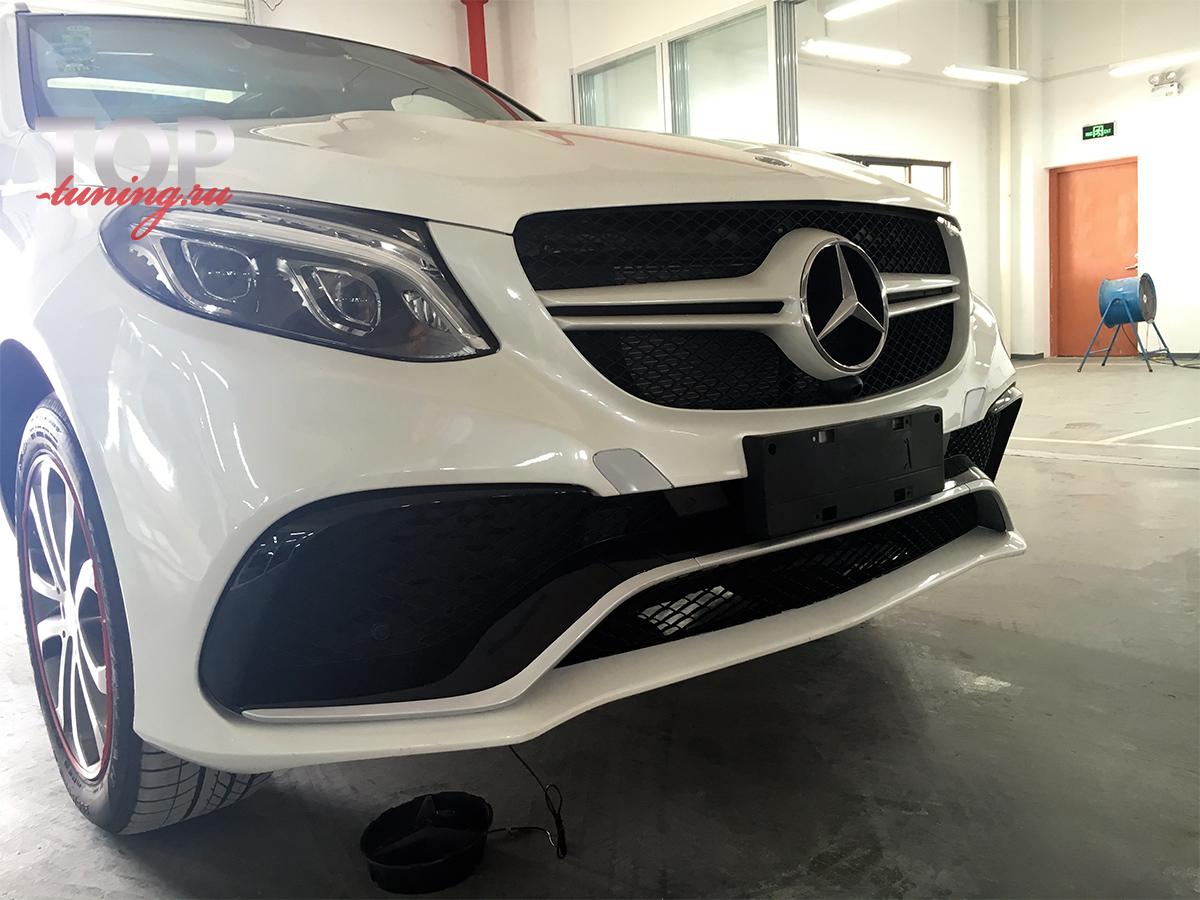Готовая работа - установка + покраска 8159 Аэродинамический обвес VISION AMG-STYLE 63S на Mercedes GLE W166