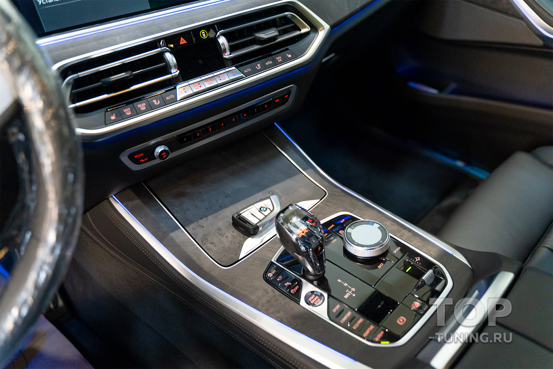 10076 Хрустальная консоль iDRIVE для BMW 8 / X5 / X6 / X7