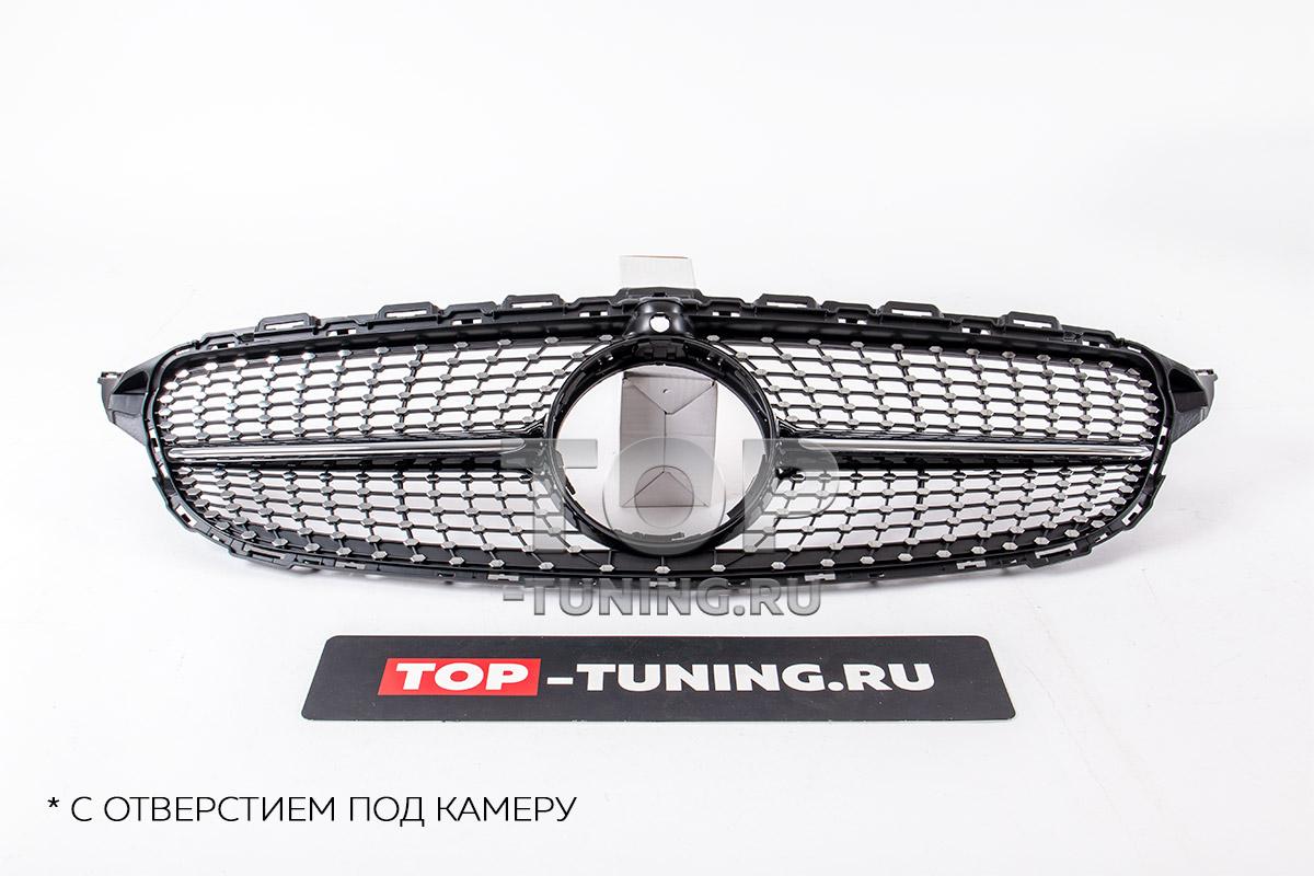 ТЮНИНГ МЕРСЕДЕС C-КЛАСС W205 (2014 - 2018) РЕШЕТКА РАДИАТОРА DIAMOND BLACK