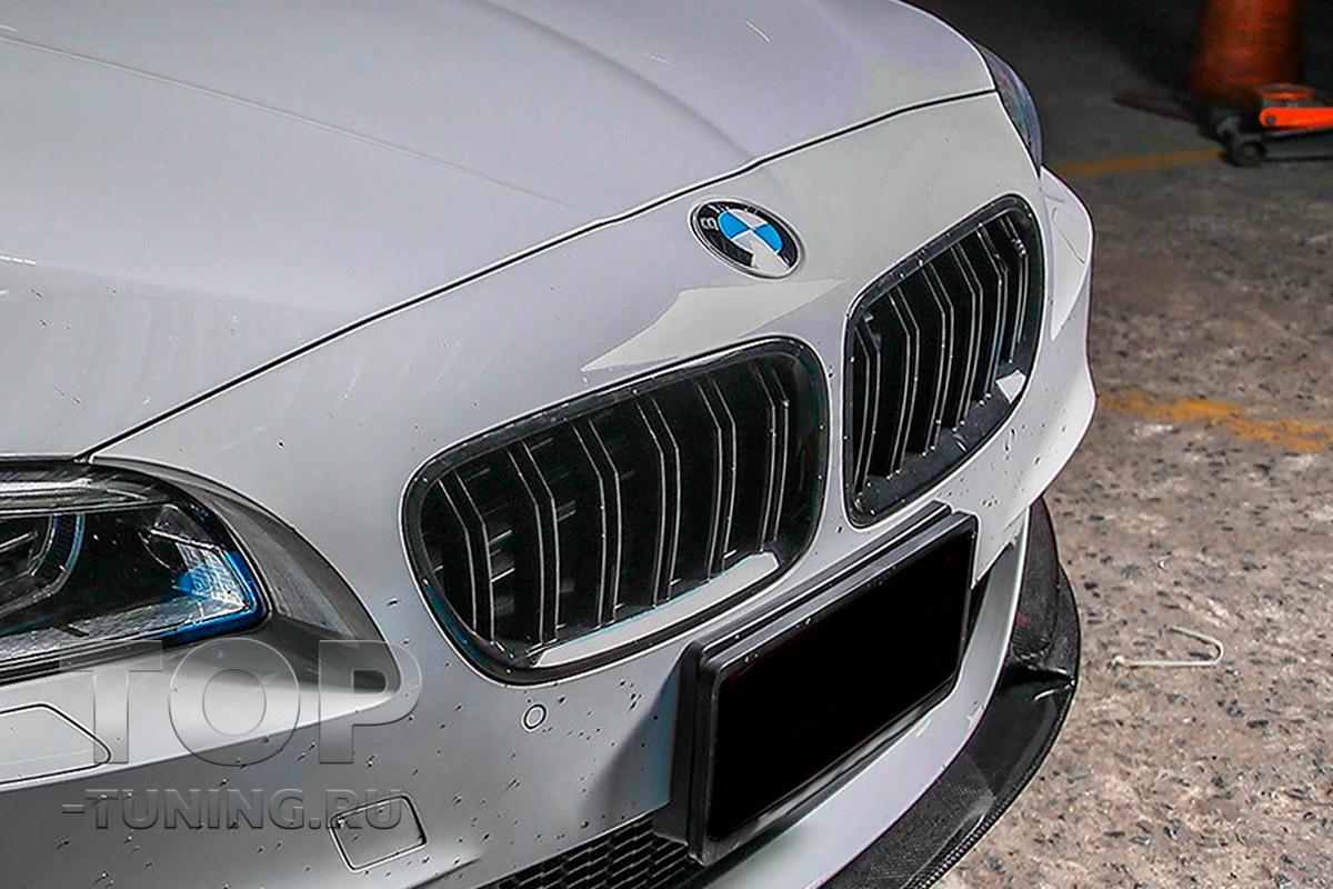 10170 Двойные решетки радиатора M5 Look Shadow line для BMW 5 F10 / F11