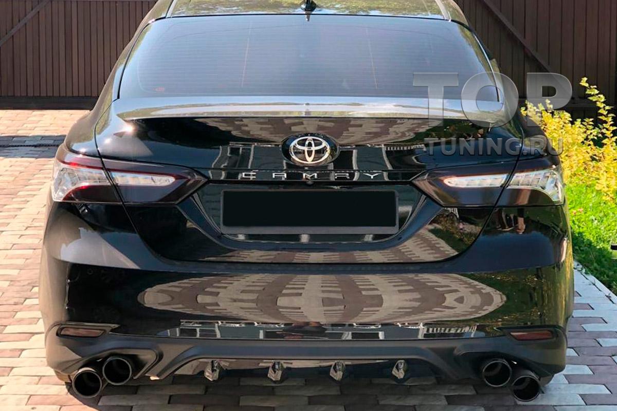 10174 Накладка Consul на задний бампер для Toyota Camry XV70