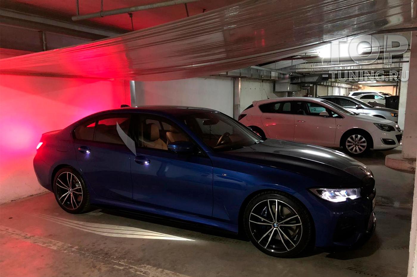 Установка накладок под пороги - обвес Liberty - Тюнинг BMW 3 G20