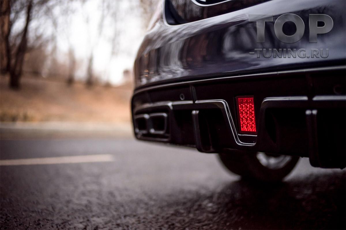 10265 Черные насадки AMG для Mercedes C-Class W205