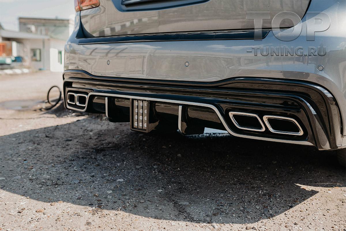 10308 Диффузор Renegade заднего бампера Mercedes GLS X166