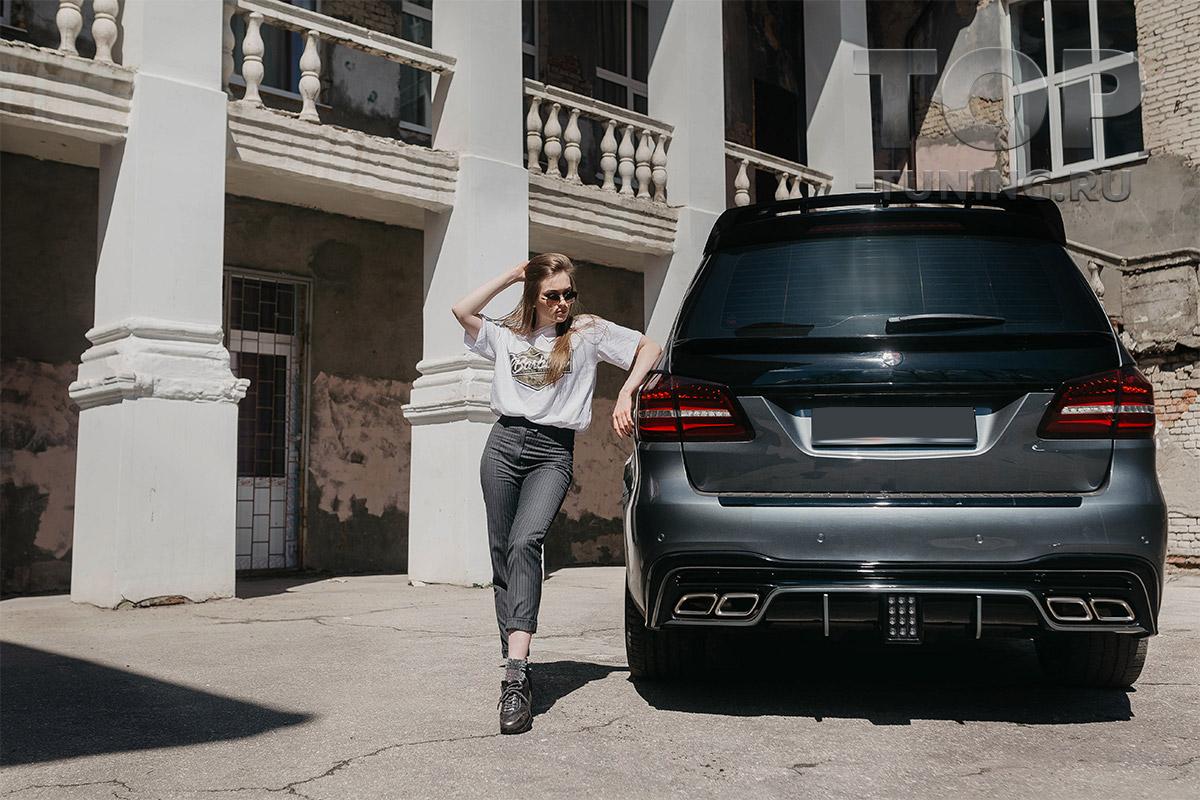 10309 Насадки на выхлопную систему GLS 63 AMG для Mercedes GLS X166