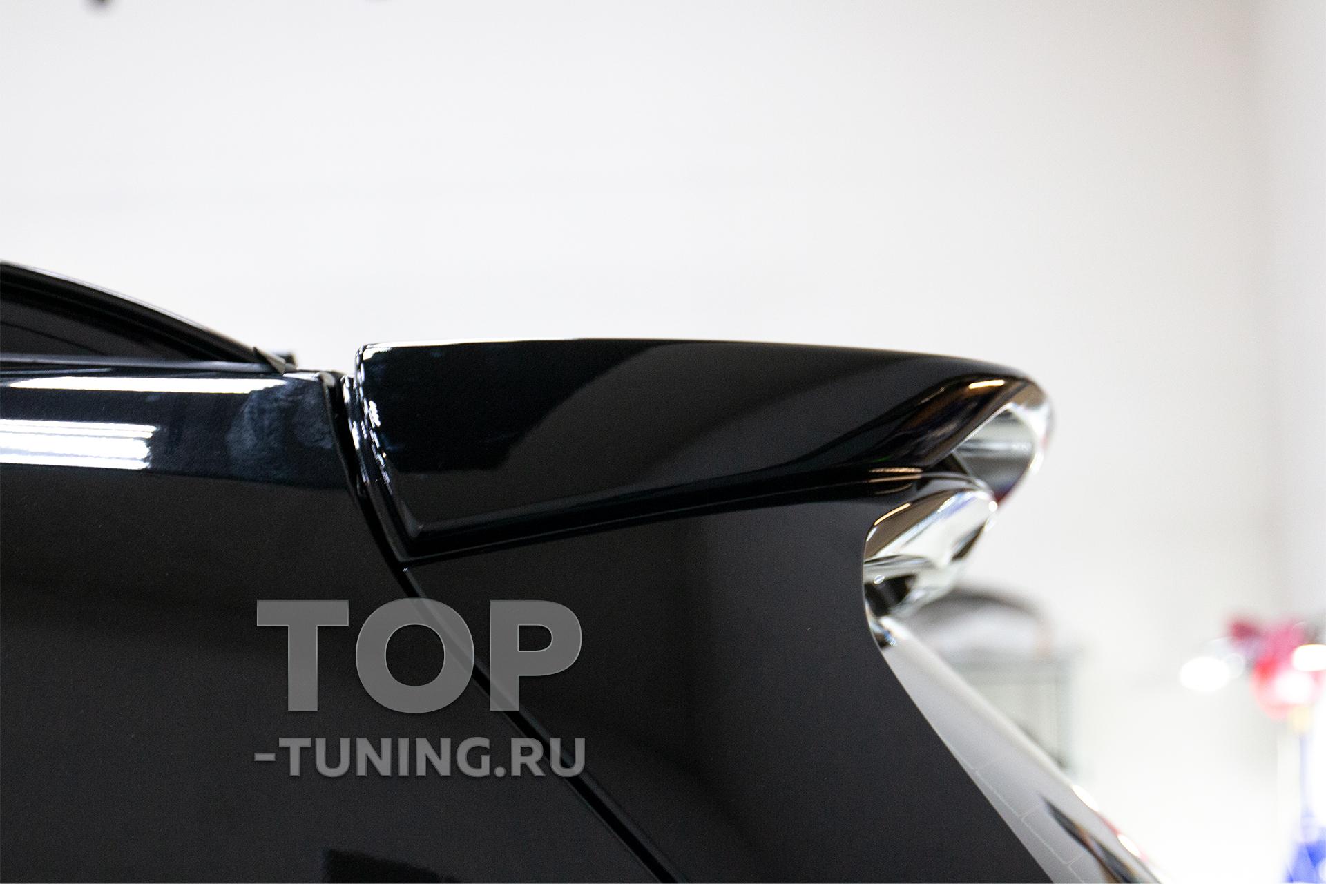 Черный спойлер ПРО ГТ для тюнинга БМВ Х7 Г07