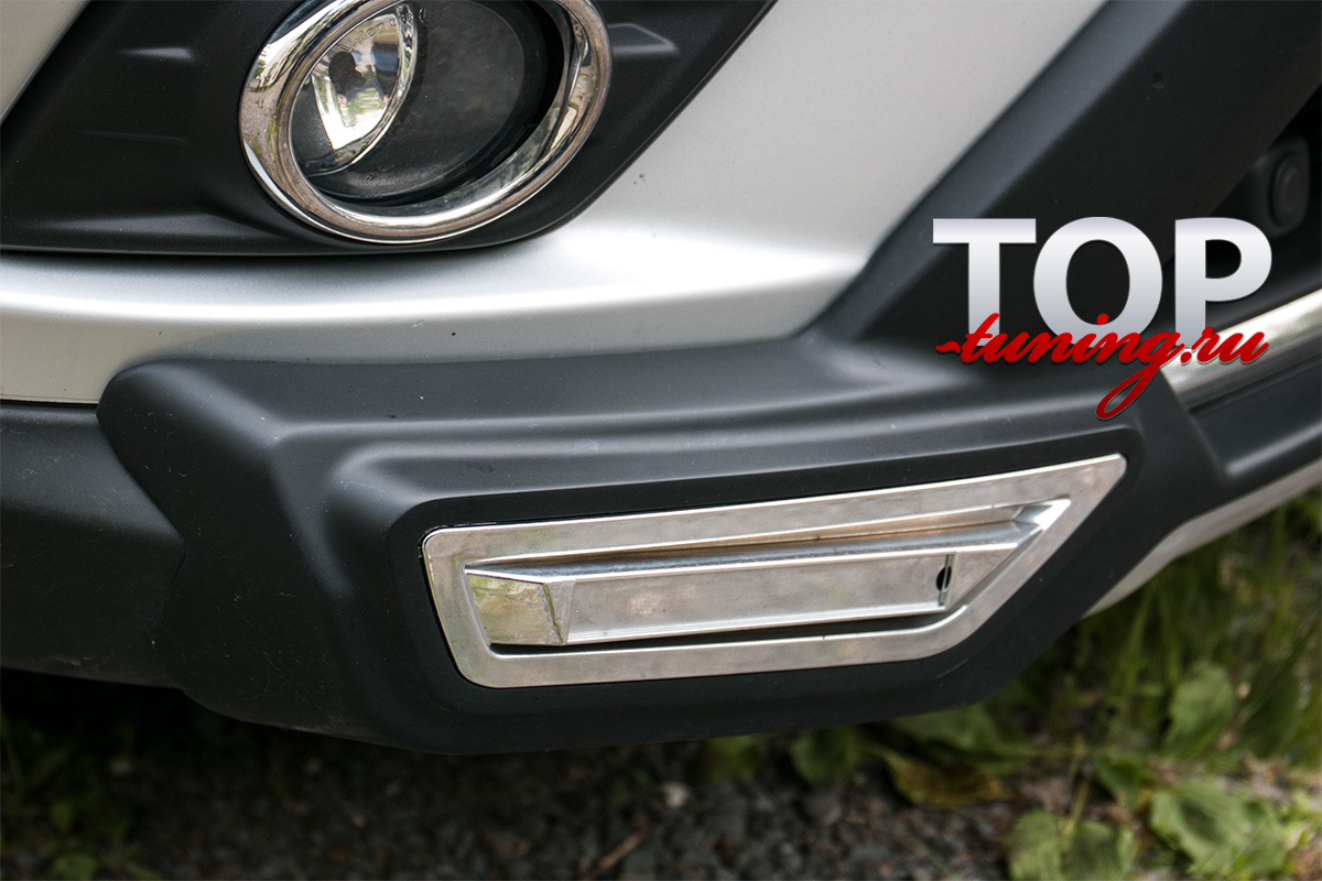 4523 Юбка на передний бампер TECH Design 4sport на Nissan X-Trail T32
