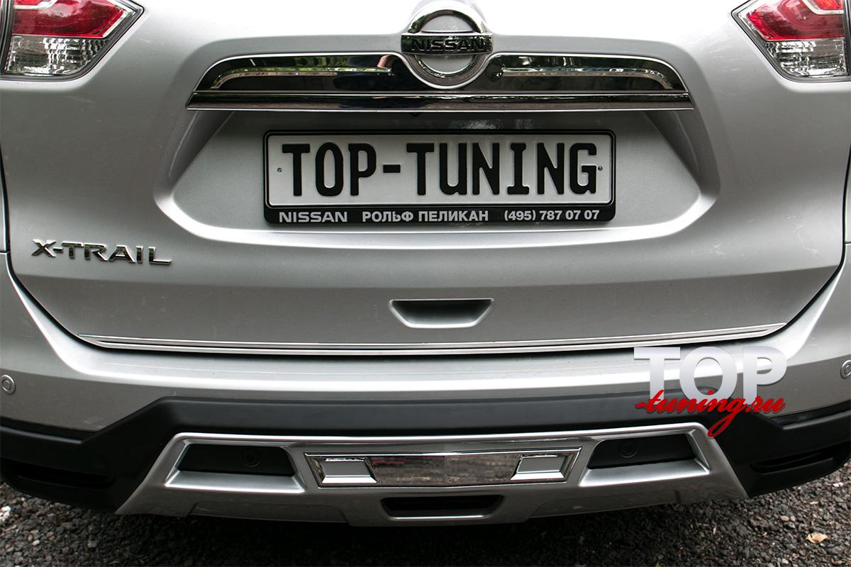 4524 Юбка на задний бампер TECH Design 4sport на Nissan X-Trail T32