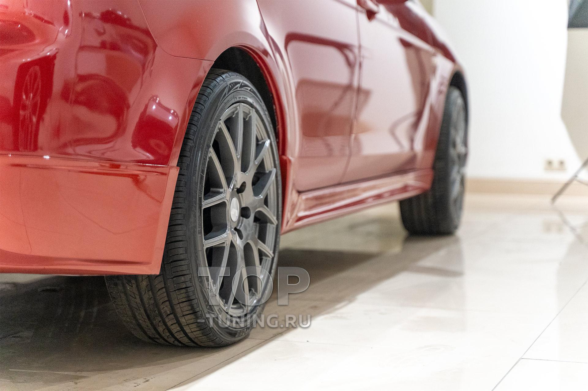 Тюнинг Лансер 10 - Пороги от версии 2.0 Спорт. Купить в цвет кузова. Пластик.