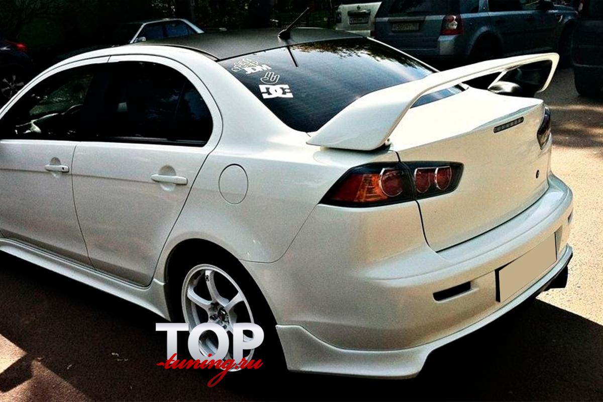 4587 Юбка на задний бампер Zodiak V1 ABS на Mitsubishi Lancer 10 (X)