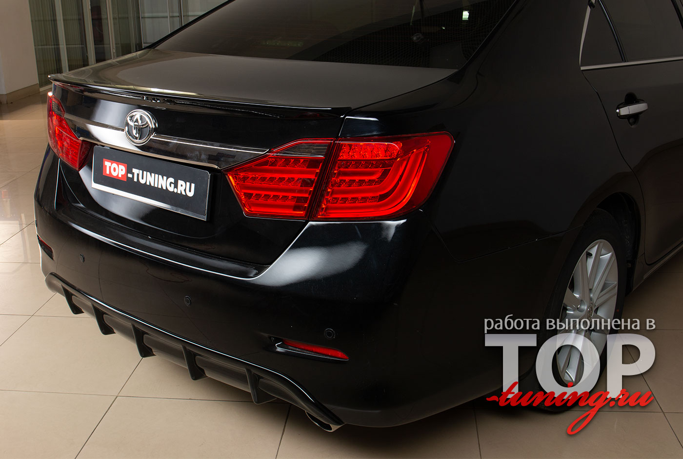 4664 Тюнинг - Диффузор на задний бампер LX Mode на Toyota Camry V50 (7)