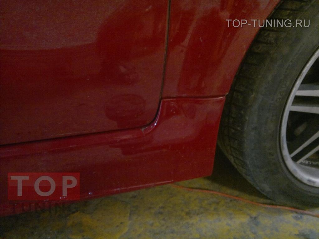 Пороги - Обвес NTC для Ауди ТТ в кузове 8J с вырезами под сетку.
