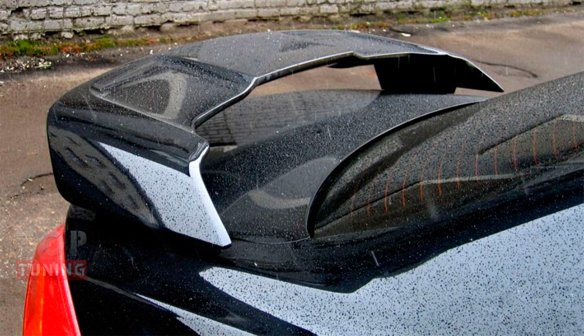 Тюнинг Mitsubishi Lancer 10 (Х) - Штатный спойлер. Материал: FIBER.