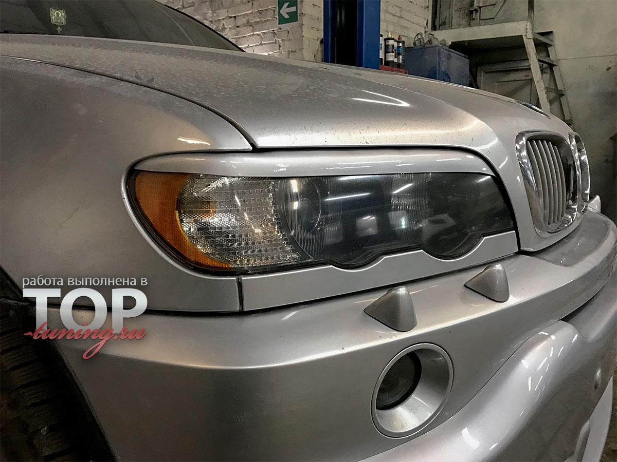 5317 Реснички на фары GT дорестайлинг на BMW X5 E53
