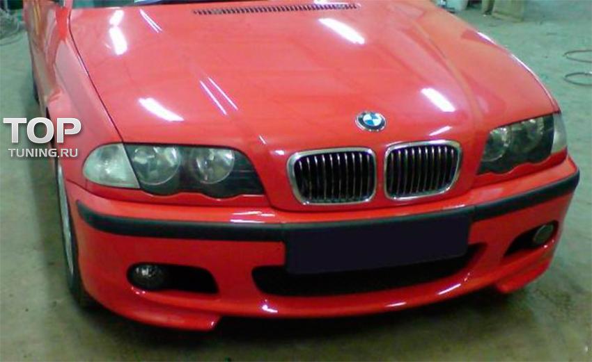 накладки на передний бампер BMW e46