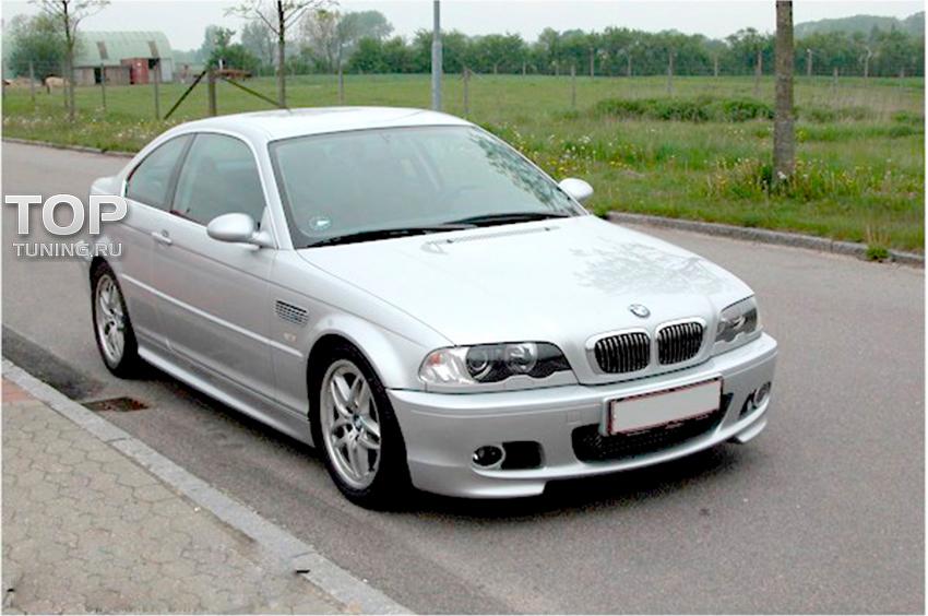 решетка в бампер левая BMW 3 e46