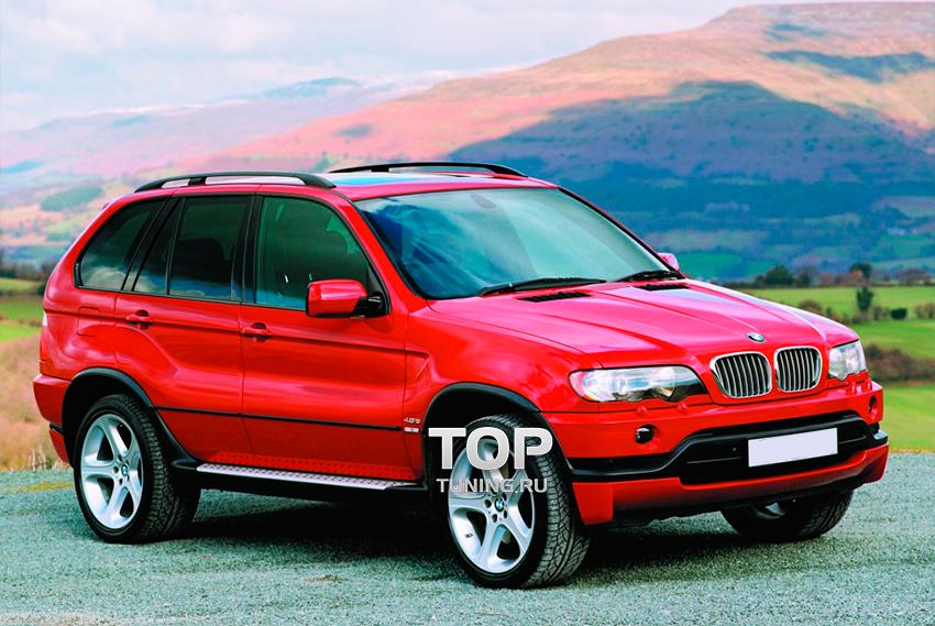 накладки на бампера BMW x5 e53