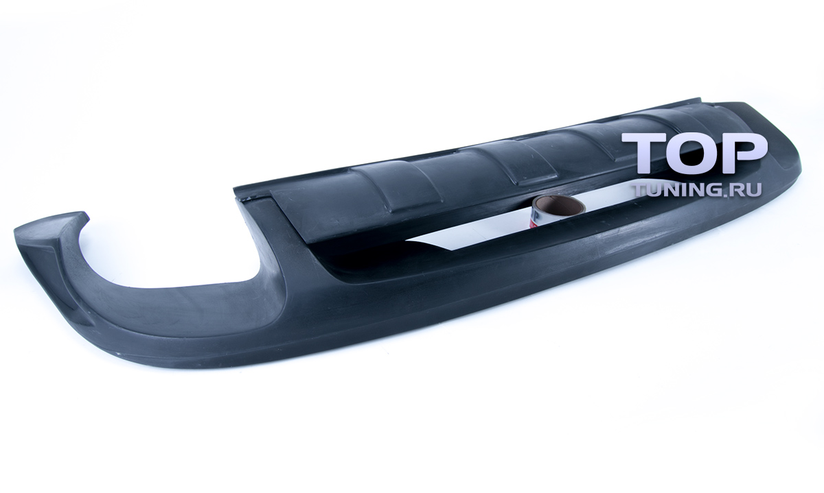 Юбка на задний бампер touareg