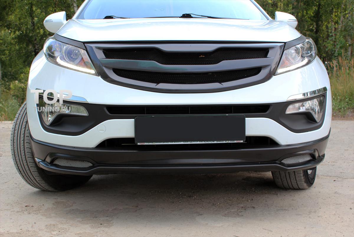 Тюнинг Киа Спортейдж 3 - Юбка переднего бампера Ixion.