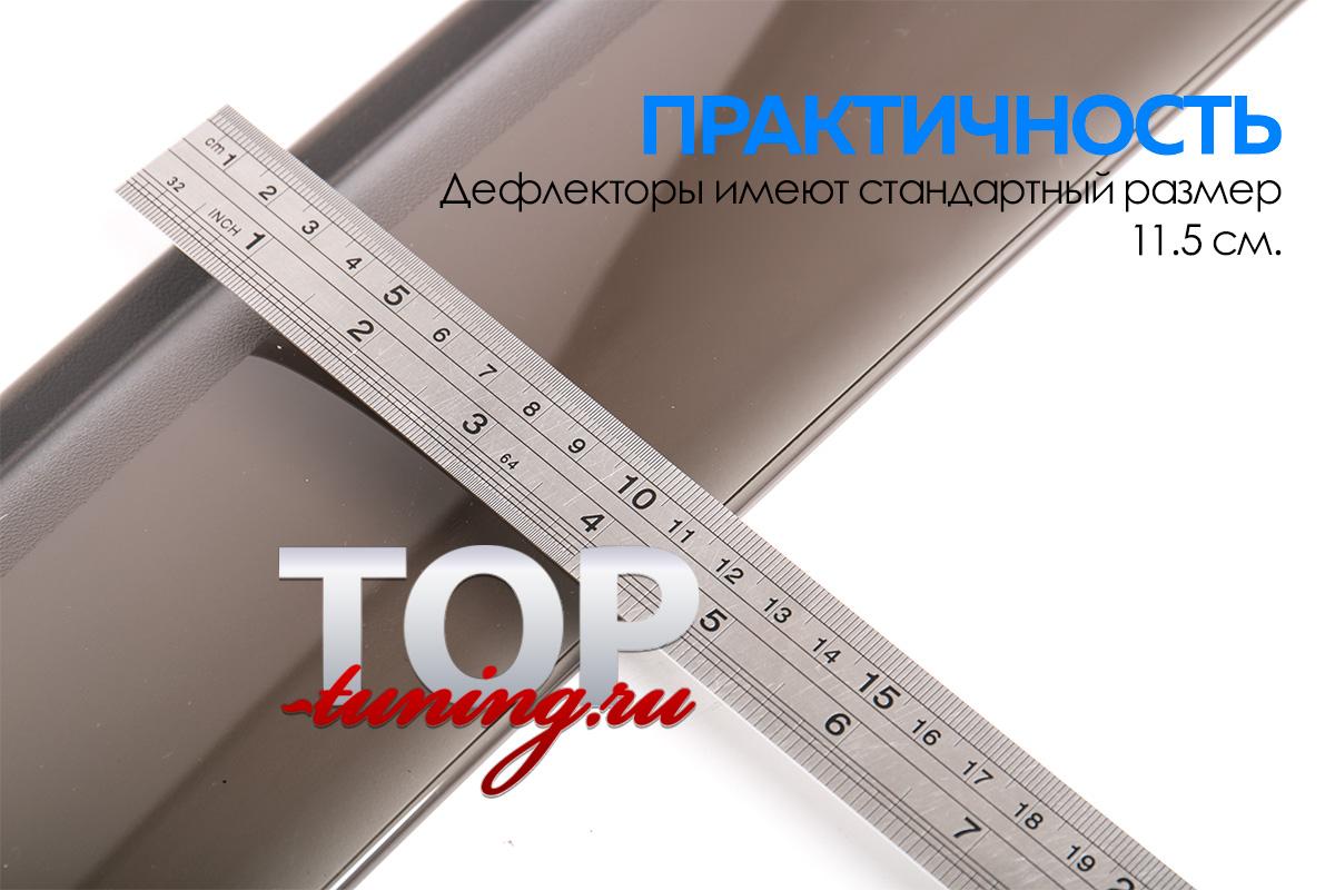 ВЕТРОВИКИ НА ОКРА ТОНИРОВАННЫЕ - ТЮНИНГ ТОЙОТА ХАЙЛЕНДЕР 2